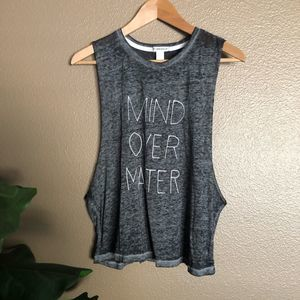 Forever 21 Gray Mind Over Matter Fitness Tank Top